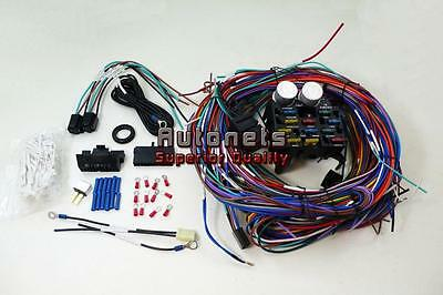 Universal Chevy GM 12 Circuit Wire Harness Kit Street Hot Rat Rod
