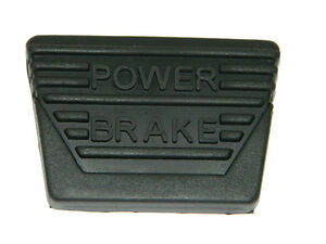 "1963-67 Corvette ""Power Brake"" Pedal Pad, Standard Transmission Only, each"