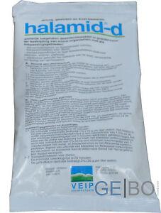 Halamid 100g Chloramin T Koi Teich Desinfektion Pilze Viren Bakterien Koiteich Wohltuend FüR Das Sperma Wasserpflege & Algenmittel Haustierbedarf