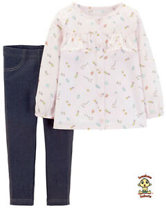 Carter-039-s-2-pc-Blouse-and-Legging-Set-24-months-Authentic-and-Brand-New