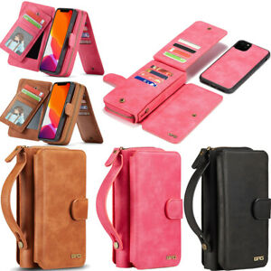 Case for Samsung Galaxy S20 S10 S9 iPhone 11 Cover Flip Wallet Leather Magnetic