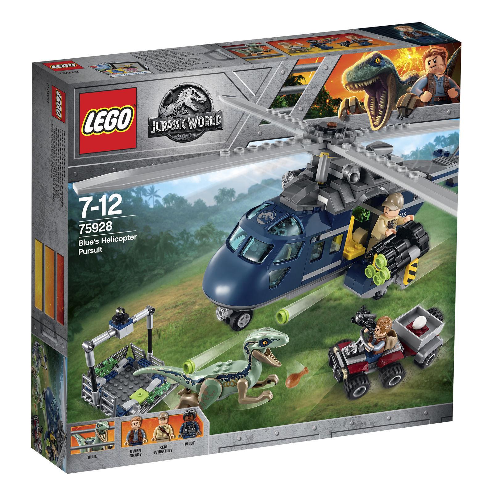 LEGO JURASSIC WORLD blu'S Elicottero Pursuit 2018