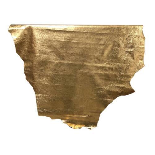 7sqft 7.9sqft AAA Top Grade Metallic Gold Texas Finish Nappa Lambskin Leather