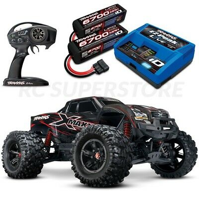 Traxxas X-MAXX 8S 4WD Brushless RTR Truck RED BODY w/6700MAH 4S BATTS & CHARGER!