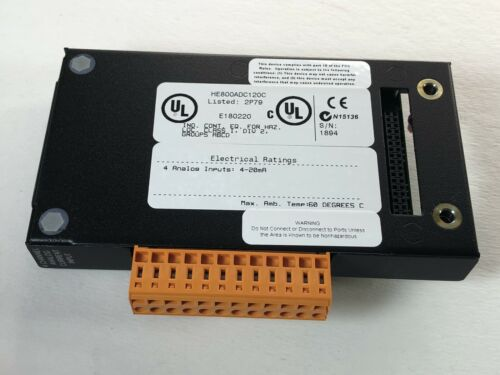 Details about  /HORNER HE800ADC120C ANALOG INPUT MODULE 12-BIT 4-CHANNEL 4-20mA