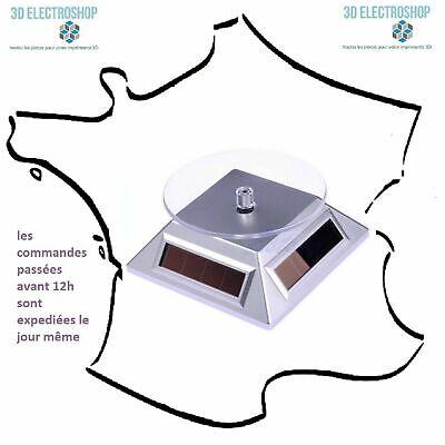 Présentoir rotatif solaire ou électrique 360 degrés pour impressions 3D bijoux