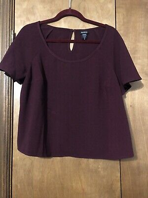 XL Torrid fuchsia plus size roll up sleeve knot front button down crop top 0