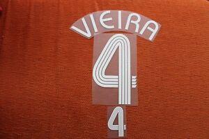 Flocage VIEIRA pour maillot équipe de France bleu patch shirt