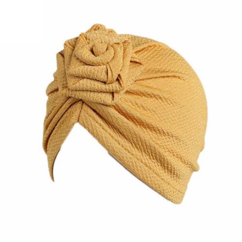 Children Baby Girls Boho Hat Beanie Scarf Turban Head Wrap Cap Flora Solid Kids