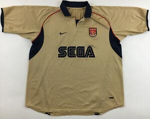 Arsenal London 2001 2002 SEGA away gold shirt jersey camiseta vintage 2000s XL ?