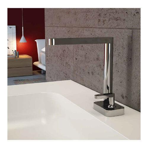 Elegante Design Waschtischarmatur Einhebelmischer chrom mit Pop-Up Ablaufventil