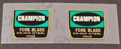 Tange TX 1200 Champion Fork STICKERS Decals Old School Bmx