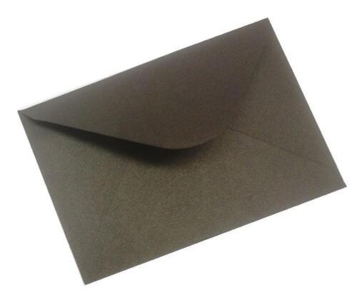 C6 100gm QUALITY BLACK SHIMMER ENVELOPES CARDS  INVITATIONS WEDDING PARTY CRAFT