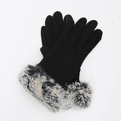 NEW Women's Full Fur Smart Phone Touch Screen Evening Driving Texting Gloves