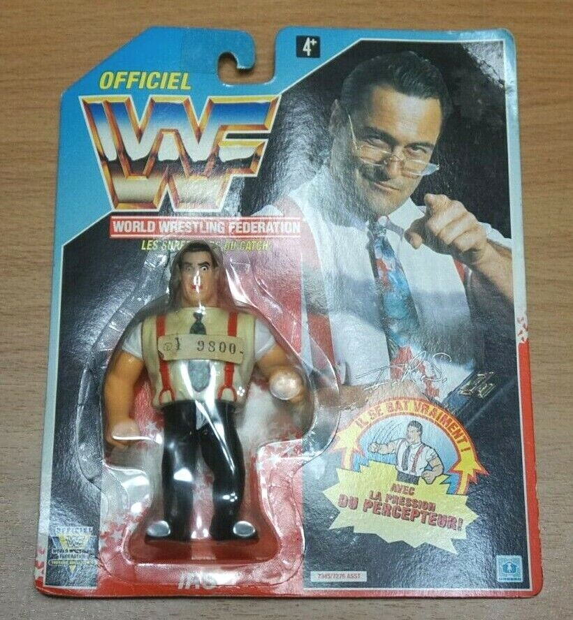 IRS Irwin R Schyster Vintage WWF Hasbro Series 5 Action Figure New 1993 WWE 90s