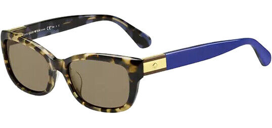 Kate Spade Marilee Polarized Women's Havana/Blue Square Sunglasses