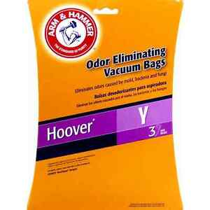 ARM-amp-HAMMER-VACUUM-3-BAGS-FOR-HOOVER-Y-WINDTUNNEL-Odor-Eliminating-bags