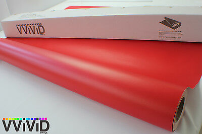 Vvivid 3M x 1.52M Matte Satin Red Vinyl Car Wrap Film