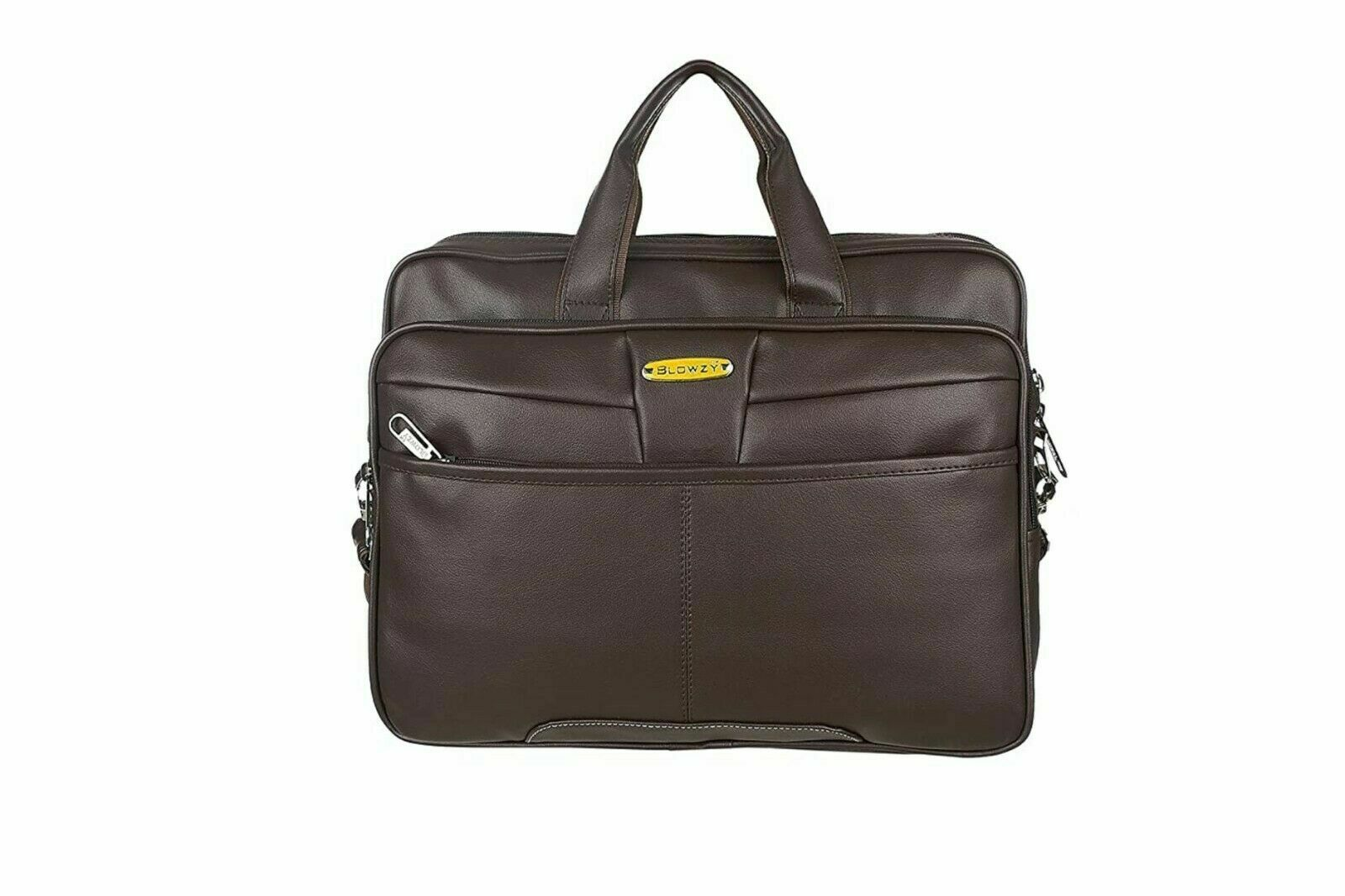 Peter india 15.6 Inch Brown Leather Sling Laptop Messenger Bag For Unisex