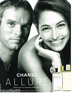 PUBLICITE ADVERTISING 065  2002  CHANEL  parfum ALLURE