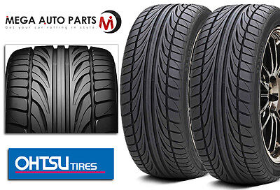 2 X New Falken @ Ohtsu FP8000 245/35ZR20 95W XL Ultra High Performance Tires AS