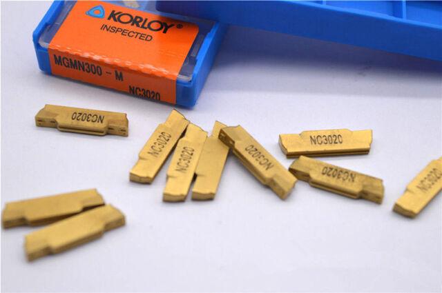 10pcs MGMN300-M NC3020 3.0mm wide Grooving blade  cut off CNC carbide INSERT