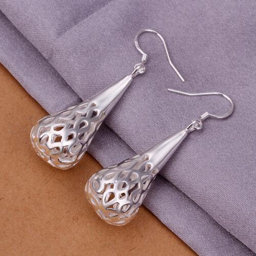 Fashion Jewelry 925 Sterling Argent Goutte Femmes Drop Dangle Earrings GE337