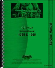 Oliver Tractor Service Manual 1355 & 1365 OL-S-1355,1365