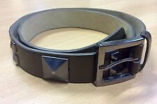 New Betsey Johnson Dark Brown Studded Belt M
