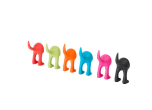 4-X-IKEA-BASTIS-Dog-Tail-Safe-Rubber-Colourful-Wall-Lead-Hook-Multi-Buy