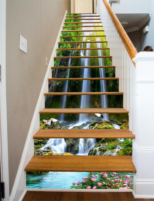 3D Sonnenschein See Stair Risers Dekoration Fototapete Vinyl Aufkleber Tapete DE