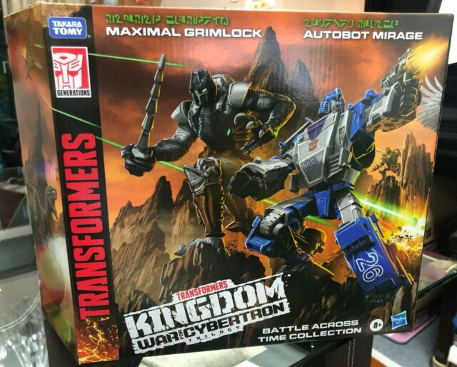 TRANSFORMERS KINGDOM WFC-K40 MAXIMAL GRIMLOCK & MIRAGE 2-PACK IN-HAND SHIP TODAY