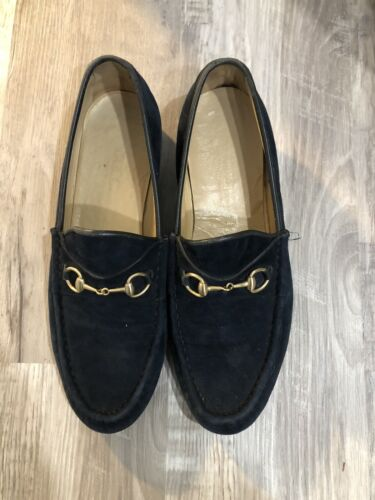 Gucci Loafers Vintage Navy Suede