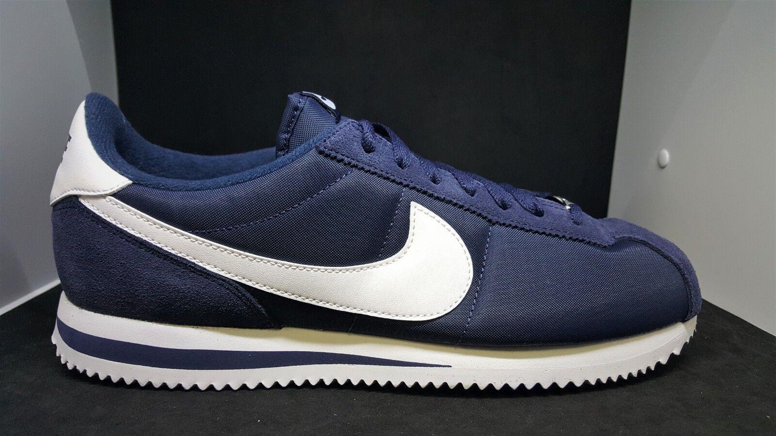 Nike Cortez Basic Nylon Obsidian White Men's Running shoes 819720-411 Size 10
