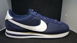 online retailer 95c81 33747 Image is loading Nike-Cortez-Basic-Nylon-Obsidian-White-Men-039-