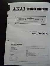 Original Service Manual  Akai  Digital Sound Processor EA-M830