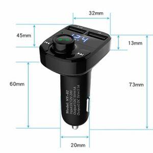 Dual-USB-Handsfree-Bluetooth-Wireless-Car-Kit-FM-Transmitter-Music-Player