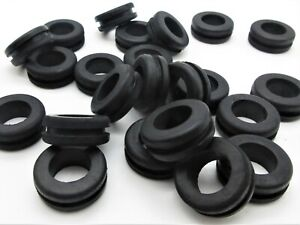 """Rubber Grommets for 3//4 Panel Hole Fits 3//16/"""" Panel 1//2/"""" ID x 7//8 OD SBR Rubber Grommet Black Rubber Grommet Round Rubber Grommet 10"""