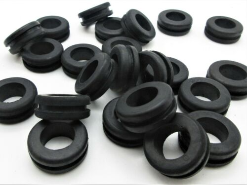 """10 Pack 1//2"""" ID Rubber Grommets for 3//4/"""" panel hole Fits 1//8"""" Panel 7//8/"""" OD"""