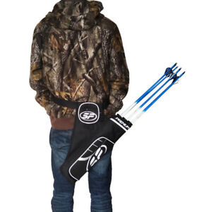 3-Tube-Hip-Quiver-Hunting-Training-Archery-Arrow-Holder-Bow-Belt-Outdoor-Hunting