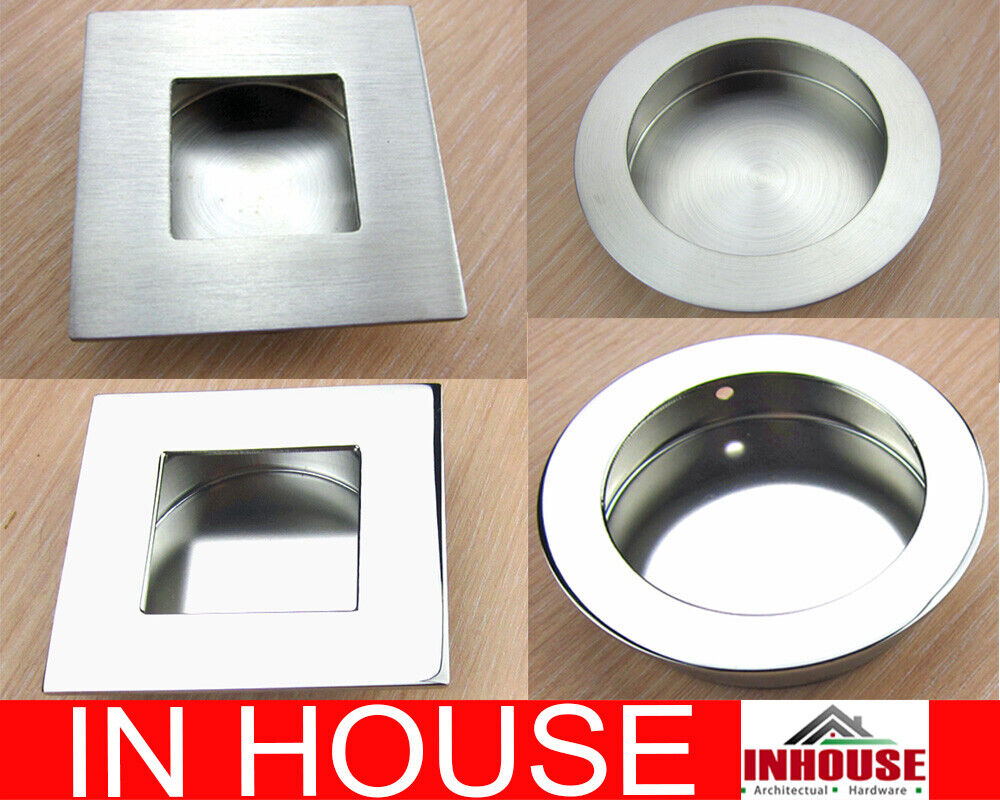 20x Flush pull handle sliding door handles 50mm 65mm 50x50mm 65x65mm