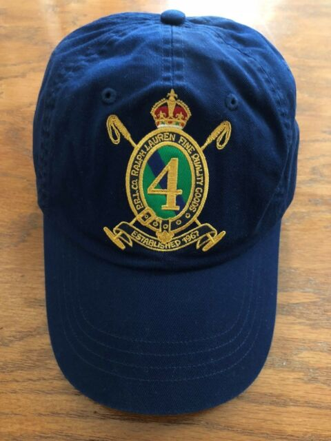 2352253d364 NWT POLO RALPH LAUREN NAVY GOLD 4 CREST 6 PANEL HAT COTTON TWILL SPORTS CAP