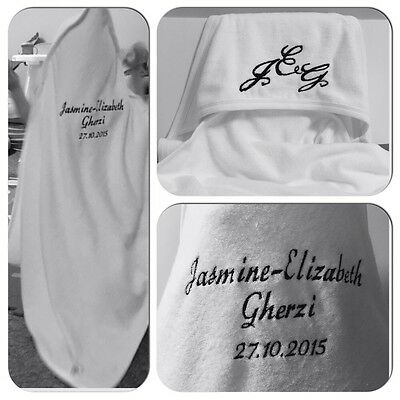 MOUNTAIN BIKE and Personalised Name Embroidered on Towels Bath Robe Hooded Towel
