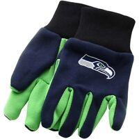 Seattle Seahawks Nfl Football Team Logo 2 Tone Sport Utility Work Grip Gloves