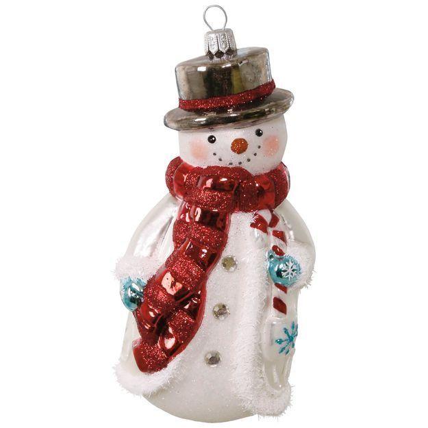 - Hallmark Heritage Collection Jolly Snowman Blown Glass Ornament EBay