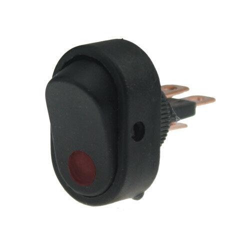 Wippschalter Schalter ein//aus rot 12V 16A