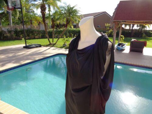 2 Halston casual Sz Heritage maniche senza Vestito elasticizzato nero FFq8w6f7x