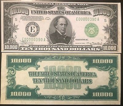 Reproduction Paper Money 1915 $100 Federal Reserve US Currency Copy Note