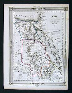 1842-Bocage-Map-Egypt-Nubia-Abyssinia-Arabia-Africa