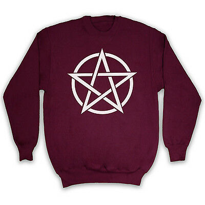 PENTAGRAM OCCULT SYMBOL GOTHIC MENS LADIES UNISEX JUMPER SWEATER SWEATSHIRT